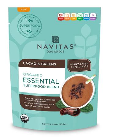 Navitas Organic Essential Superfood Blend Cacao & Greens 8.8oz