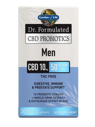 Garden of Life CBD Probiotics Men 50 Billion 30 Capsules