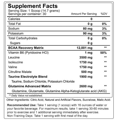 Nutrakey BCAA Optima Grape Rush 30 Servings