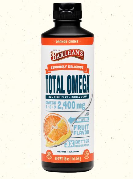 Barlean's Omega Swirl Fish Oil Orange Creme 16 oz