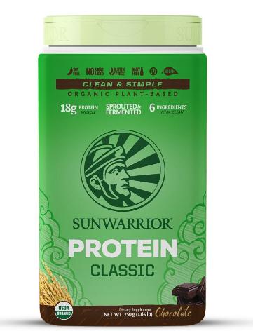 Sunwarrior Organic Protein Classic, Chocolate 750g