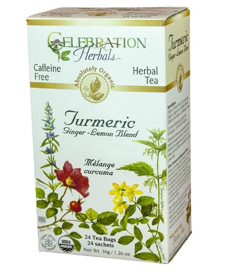 Celebration Herbals Turmeric Ginger-Lemon Blend Tea