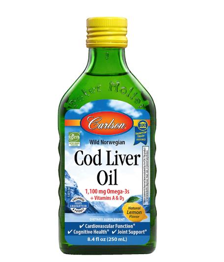 Carlson Norwegian Cod Liver Oil 8.4oz