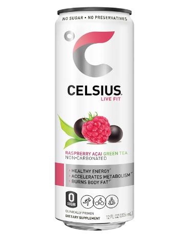 Celsius Non-Carbonated Raspberry Acai Green Tea 12oz