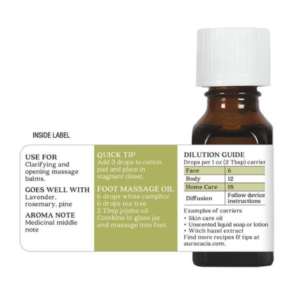 Aura Cacia Essential Oil, White Camphor 0.5oz