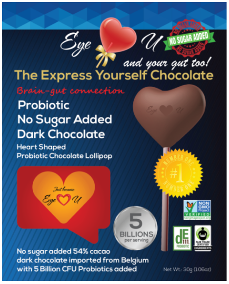 Eye Love U Dark Chocolate Probiotic Lollipop