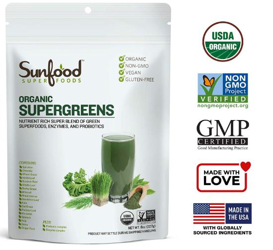 Sunfood SuperGreens 8oz