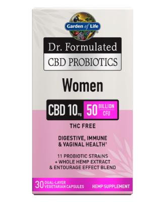 Garden of Life CBD Probiotics Women 50 Billion 30 Capsules