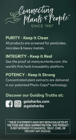 Gaia Adrenal Health 60 Vegan Liquid Phyto-Caps