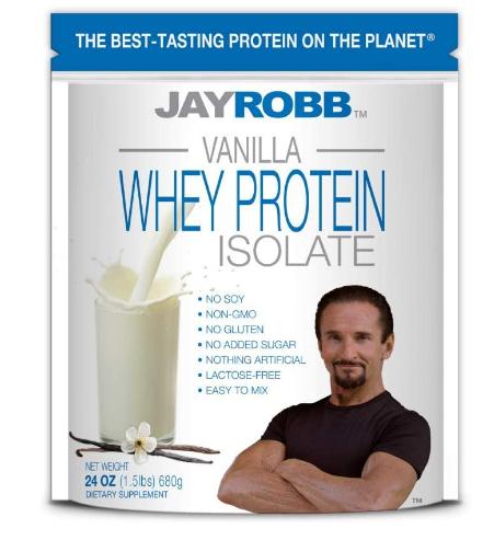 JayRobb Vanilla Whey Proteins 24oz