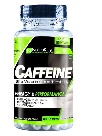 Nutrakey Caffeine 200mg 100 Capsules