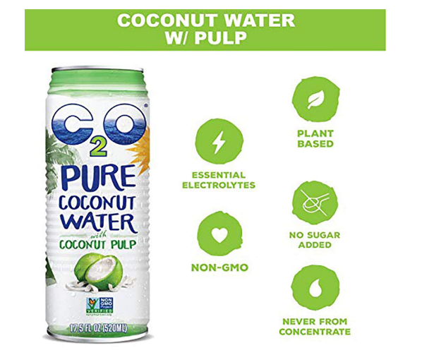 C2O Pure Coconut Water With Pulp 17.5oz