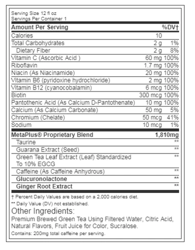 Celsius Non-Carbonated Strawberries & Cream 12oz