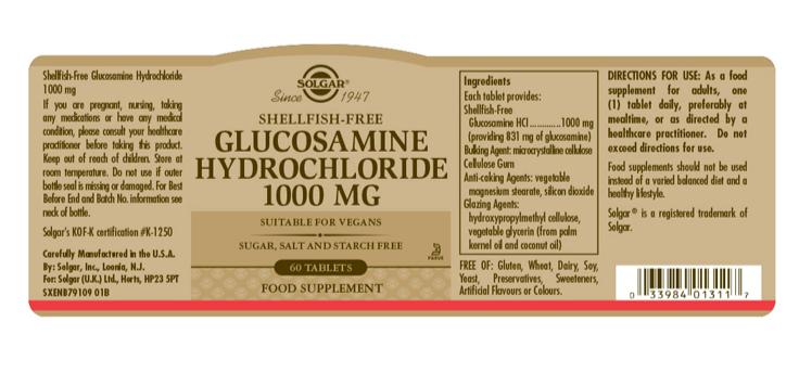 Solgar Glucosamine Hydrochloride 1000 mg