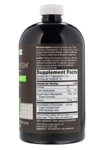 Nature's Way Chlorofresh Mint Flavor 16oz