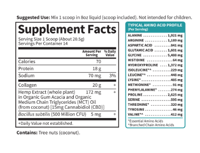 Garden of Life Collagen CBD 15 mg 14 servings