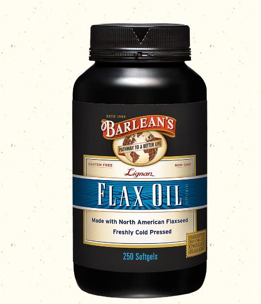 Barlean's Flax Oil Highest Lignan 1000mg 250 Soft Gels