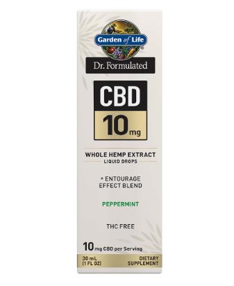 Garden of Life Dr. Formulated CBD 10mg Peppermint 1oz