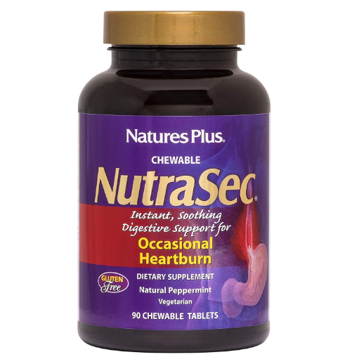 Nature's Plus NutraSec 90 Chewable Tablets