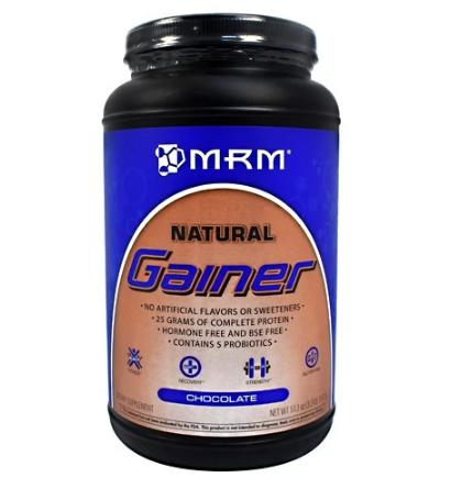 MRM Natural Gainer With Probiotics, Chocolate 3.3LB
