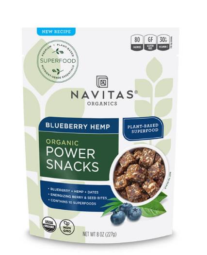 Navitas Organic Blueberry Hemp Power Snacks 8 0z