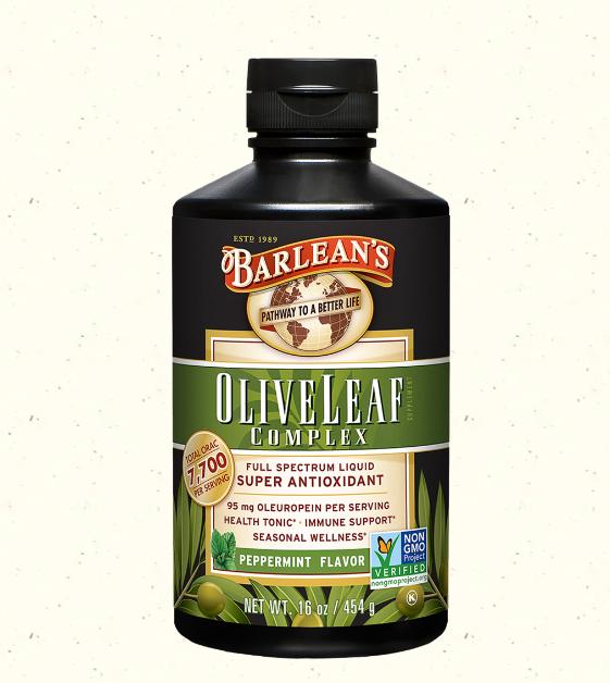 Barlean's Olive Leaf Complex Liquid, Peppermint 16oz