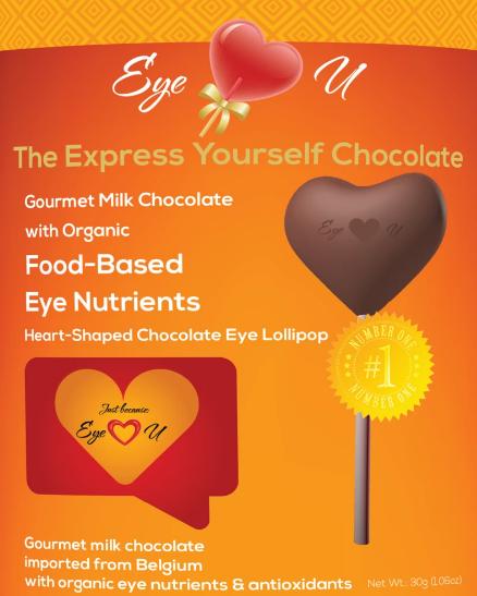 Eye Love U Milk Chocolate Lollipop