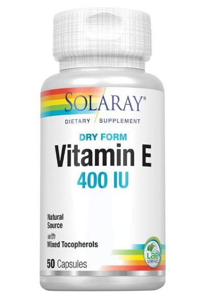 Solaray Vitamin E 400 iu 50 Softgels