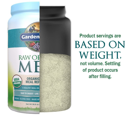 Garden of Life Raw Organic Meal Replacement & Shake, Lightly Sweet No Stevia 36.6oz