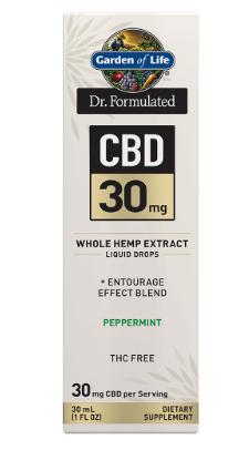Garden of Life Dr. Formulated CBD 30mg Peppermint 1oz