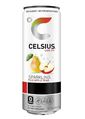 Celsius Sparkling Fuji Apple Pear 12oz