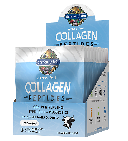 Garden of Life Grass Fed Collagen Peptides Single