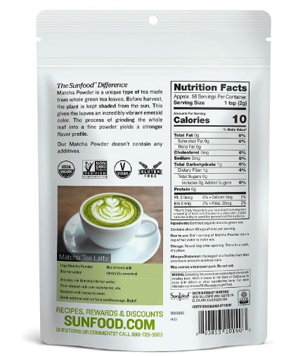 Sunfood Matcha Powder 4oz