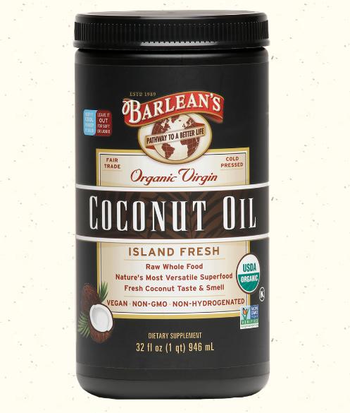 Barlean's Organic Virgin Coconut Oil, Island Fresh 32 oz