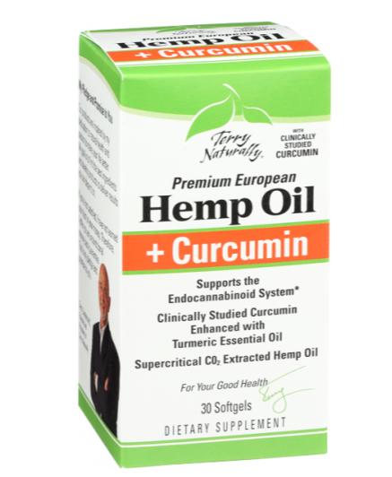 Terry Naturally Hemp Oil+Cucurmin 30 sftgels
