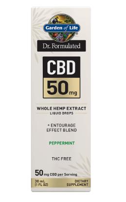 Garden of Life Dr. Formulated CBD 50mg Peppermint 1oz