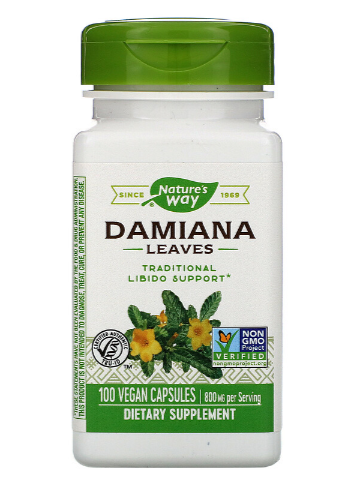 Nature's Way Damiana Leaves 100 Capsules