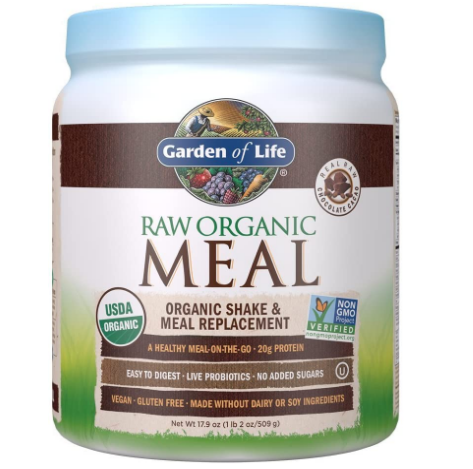 Garden of Life Raw Organic Meal Replacement & Shake, Real Raw Chocolate Cacao 17.9oz