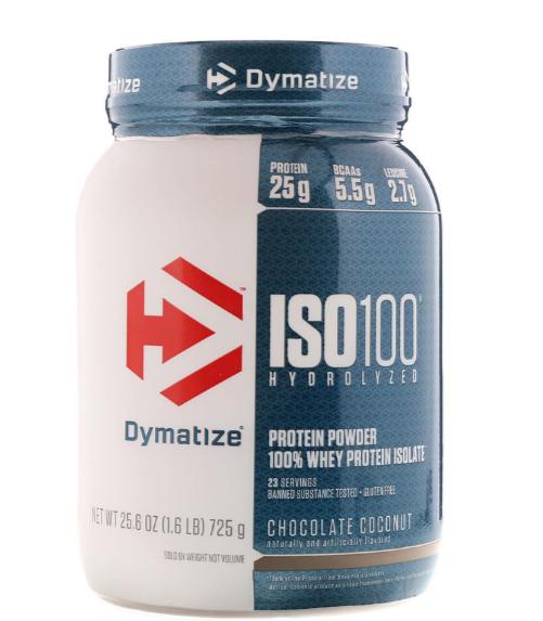 Dymatize ISO100 Protein Powder, Chocolate Coconut 1.6 LB
