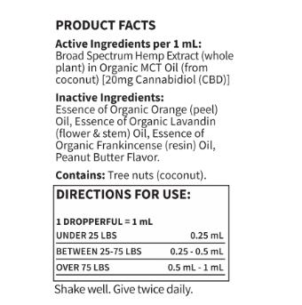 Garden of Life Dr. Formulated CBD Pet Peanut Butter Flavored 1oz