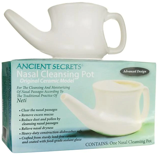 Ancient Secrets Nasal Cleansing Pot Original Ceramic Model
