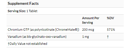 Source Naturals Vanadium with Chromium 90 tablets