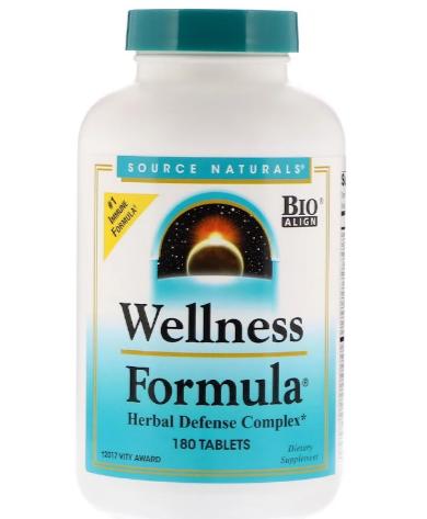 Source Naturals Wellness Formula 180 tablet