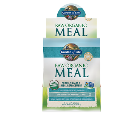 Garden of Life Raw Organic Meal Replacement & Shake, Lightly Sweet No Stevia 2.6oz Single Packet