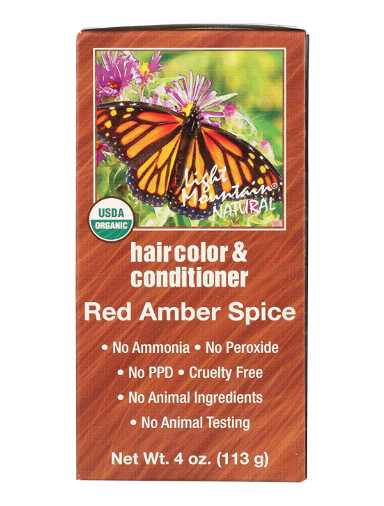 Light Mountain Henna Color Red Amber Spice