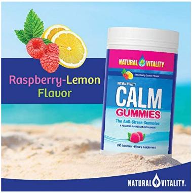 Natural Vitality Calm Gummies  120 ct
