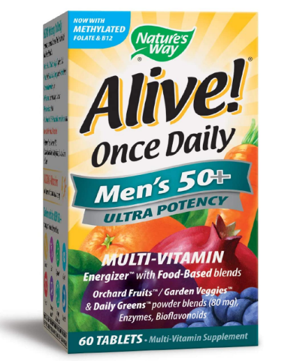 Nature's Way Alive Once daily Men's 50+ 60 tablets