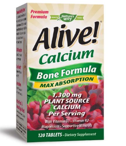 Nature's Way Alive! Calcium Bone Formula 120 Tablets