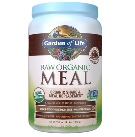 Garden of Life Raw Organic Meal Replacement & Shake, Real Raw Chocolate Cacao 35.9oz