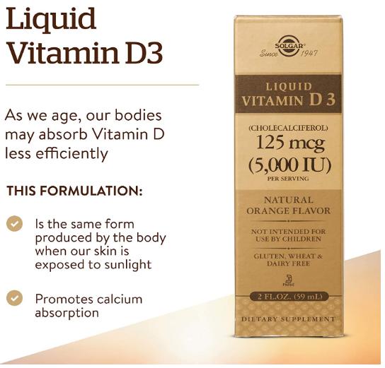 Solgar Vitamin D3 liquid 2oz.